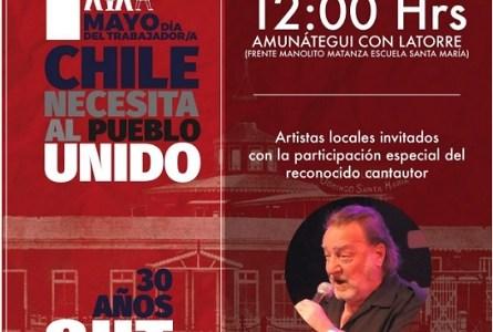 Destacado cantautor y escritor chileno, Patricio Manns estará en acto de la CUT por el Día Internacional de los Trabajadores