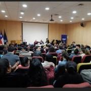 Luis Mesina, vocero de Coordinadora NO + AFP, cautivó y despertó conciencia en un salón repleto de auditores para impulsar la Iniciativa Popular de Ley, IPL