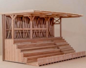 Futuros arquitectos expusieron in situ maquetas de inmuebles icónicos de Humberstone, Santa Laura y Peña Chica