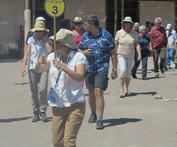 """Fiscalizan a los 17 buses que trasladaron por tarapacá a turistas del crucero """"seven seas explorer"""""""