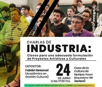 Una charla orientada a la generación de proyectos culturales, realizará en Iquique la Sociedad Chilena de Autores e Intérpretes