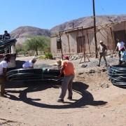 Quillahuasa y Mocha reciben materiales parareponer los sistemas abastecedores de agua, para conducción y abastecimiento