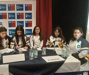 Colegio Inglés obtuvo primer lugar en debate comunal de prevención del consumo de alcohol y Drogas