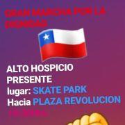 Gran Marcha por la Dignidad en Alto Hospicio, desde el Skate Park del sector de La Pampa, a la Plaza Belén
