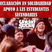 """Unidad Social entrega respaldo a estudiantes secundarios """"perseguidos por su derecho a manifestarse contra la PSU"""""""