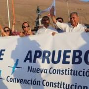 En distintos puntos de la ciudad se dio el vamos a la campaña electoral por el Apruebo Una Nueva Constitución para Chile