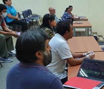 Cuarentena para la región y resguardo de las condiciones de trabajo expresaron dirigentes de la Cut, Anef, Salud,  Afumi y Ajunji al Intendente y jefe de zona de catástrofe