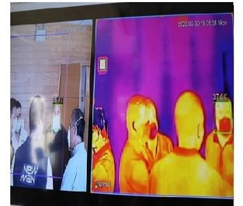 Municipalidad de Iquique entrega cámara de detección temprana de temperatura corporal, a la Fuerza Aérea