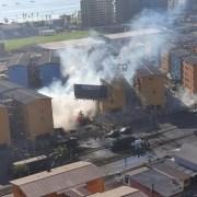 Violentos incidentes en zona cero terminó con ingreso de FFEE de Carabineros a Condominio privado y a lo menos 5 detenidos