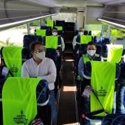 Minera pone en marcha primeros buses eléctricos en Tarapacá destinados al traslado de trabajadores hacia su terminal marítimo