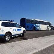 En operativo realizado por PDI, desde Santiago y del Maule trasladan a 7 detenidos por caso LED.