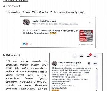 """La ANI asegura que se """"quemó"""" ex regimiento y concluye lo que se sabe: Marchas del estallido las convocó el movimiento social de Tarapacá"""