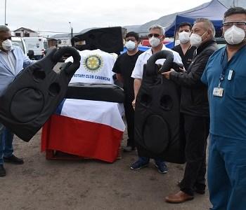 Hospital de Iquique recibió colchones especiales para pacientes Covid, para facilitar postura a pacientes internados