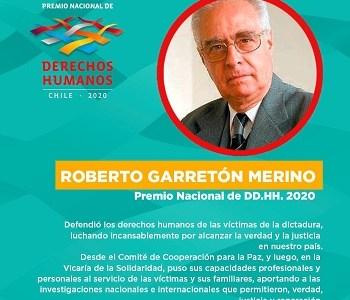 Abogado Roberto Garretón, que desde la Vicaría inició su lucha, fue nominado con el Premio Nacional de DDHH
