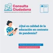 Agencia de Calidad de la Educación les pregunta a los padres y apoderados qué es calidad educativa en pandemia