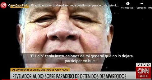 Caso Degollados: El audio en que condenado entrega detalles del paradero de detenidos desaparecidos