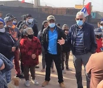 Core Cisternas llama a dar solución a pobladores de la toma Progreso, permitiéndoles seguir en el terreno fiscal o asignándole otro lugar