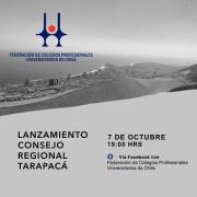 Nueve órdenes de profesionales constituyen Consejo Regional Tarapacá de la Federación de Colegios Profesionales