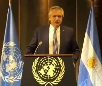 """Presidente Alberto Fernández: """"Quiero que no exista más el dolor que vi en las calles de Chile en los últimos tiempos"""""""