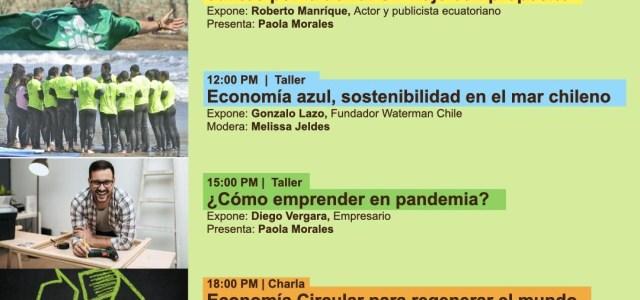 """Con proyecto """"Juntos por la Tierra"""" del actor y publicista ecuatoriano, continúa la Semana Circular Tarapacá 2021"""