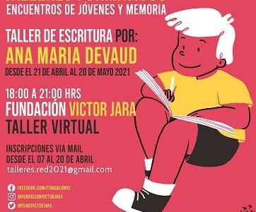 Fundación Víctor Jara convoca a jóvenes a participar a talleres formativos virtuales sobre la Memoria
