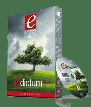 Pacchetto DVD Edictum+ il Software per la stampa dei manifesti funebri lutto