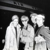 Ileana Sonnabend Andy Warhol: photo of Andy Warhol, Edie Sedgwick, Gerard Malanga and Chuck Wein boarding an Air France flight from New York to Paris