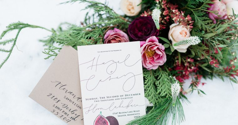 Hazel + Casey: Winter Wedding Styled Shoot