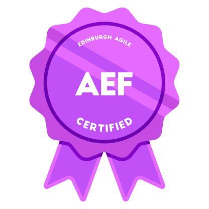 Agile Estimating & Forecasting (AEF) Badge