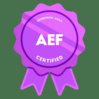 Agile Estimating & Forecasting (AEF) Badge