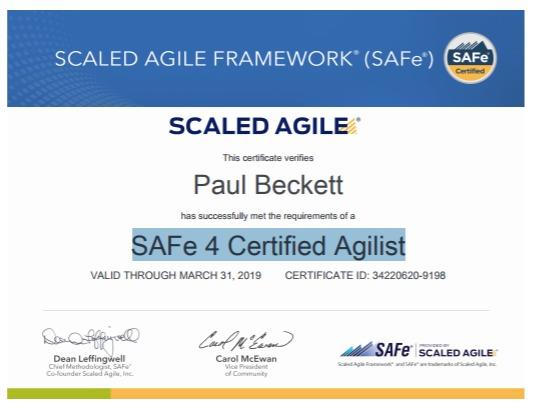 SAFe Certified Agilist