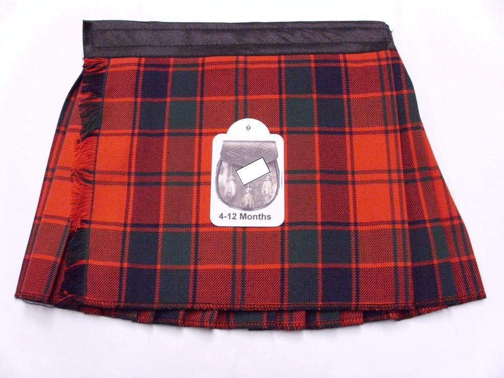 Robertson Red 6-12 Month Kilt - Edinburgh Castle Scottish Imports