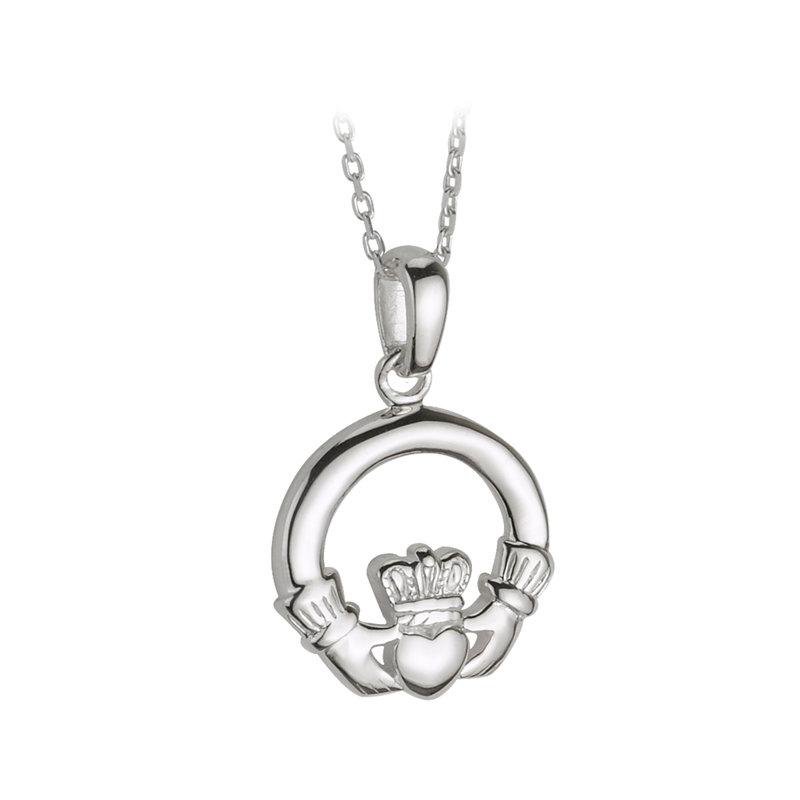 Silver Medium Claddagh Pendant