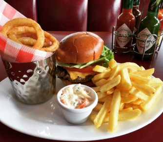 Ed's Plate with a Cheese or Cheese Burger - Ed's Easy Diner