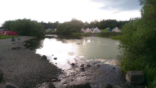 Edinburgh Festival Camping Glamping with lake side view