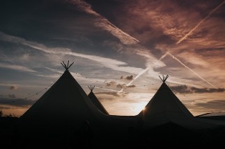 Our very cool Giant Tipis!