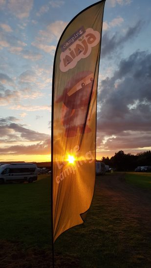Sunset at Edinburgh Festival Camping