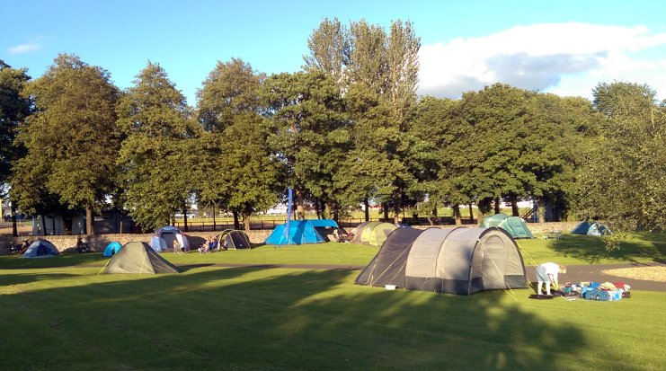 Bring Your Own Tent camping area with plenty of space