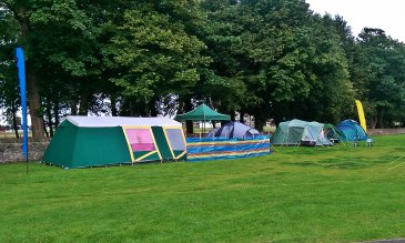 Bring Your Own Tent camping - bring what you need, no restriction on tent size or gazebos, windbreaks etc.