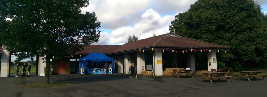 Check in and the Hay Bale Lounge