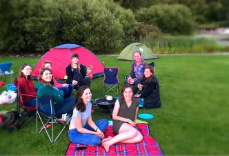 Hanging out with a Lake View at Edinburgh Festival and Fringe Camping