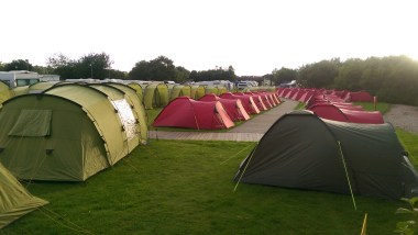 Our Pre-pitched tent village ready to go
