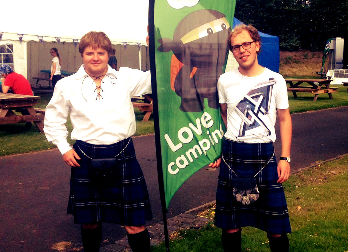 The Dutch Lads went native in the end at Edinburgh Festival and Fringe Camping