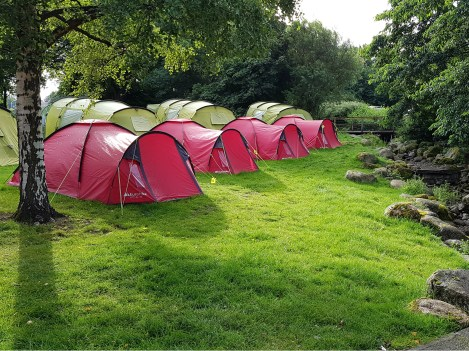 Some of our Pre-Pitched Tents