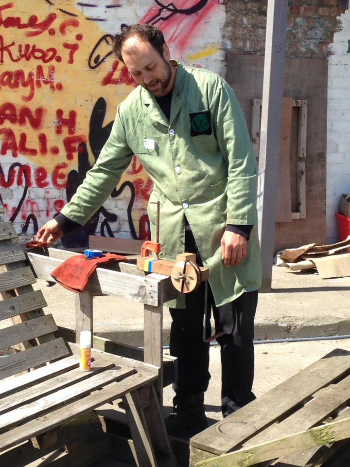 Making a wind turbine at the Forge
