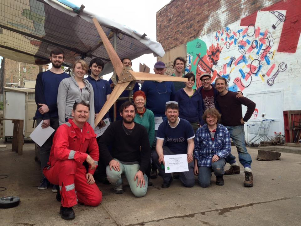 Wind Turbine workshop at the Forge