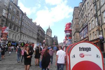 Royal Mile at the Beginning of the Edinburgh Fringe