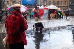 Val Saville Filming at the Edinburgh Fringe