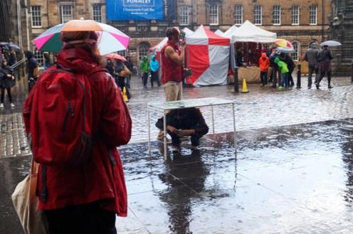 Val Saville Filming at the Edinburgh Fringe