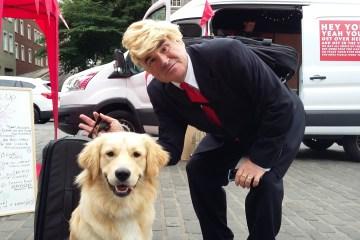 Donald Trump aka Eric Gudmunsun playing Edinburgh Fringe